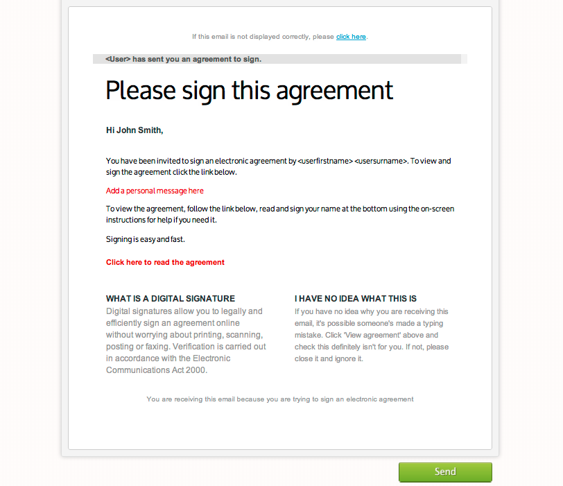 Creating A New Agreement From Start To Finish Signtick Support